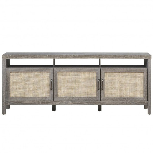 """Storage TV Stand Entertainment Media Center for TV's up to 65""""-Gray"""