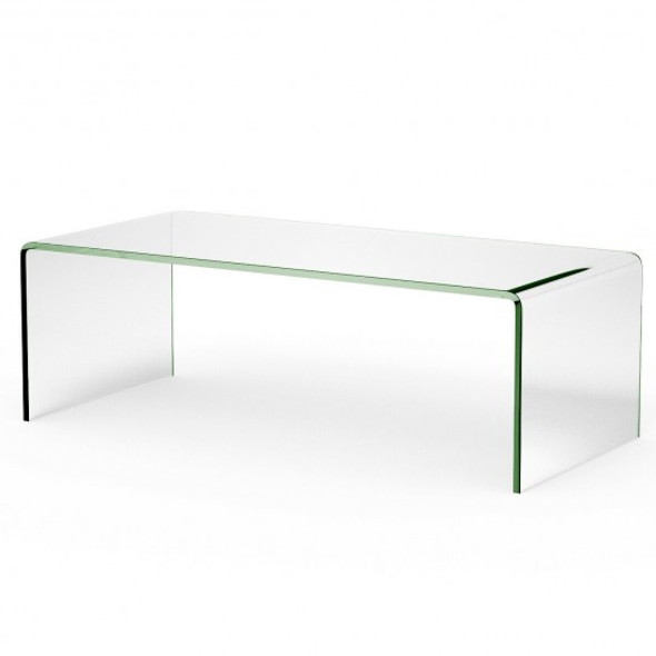 """42.0"""" x 19.7"""" x 14"""" Tempered Glass Coffee Table - COHW66289CL"""