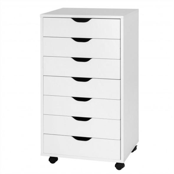 7-Drawer Chest Storage Dresser Floor Cabinet Organizer with Wheels