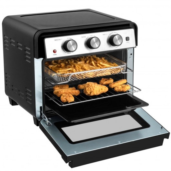 23 QT 6-in-1 Air Fryer Toaster Oven with 9 Accessories