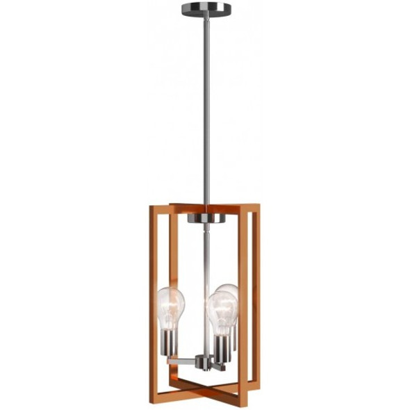 3-Lights Modern Industrial Hanging Pendant Lamp with Iron Square Lamp Shade