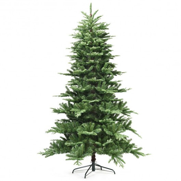 7.5 ft Pre-Lit Aspen Fir Hinged Artificial Christmas Tree with 700 LED Lights