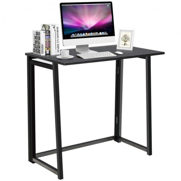 Foldable Home and Office Computer Desk-Black