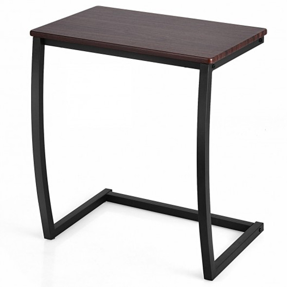 Steel Frame C-shaped Sofa Side End Table-Coffee
