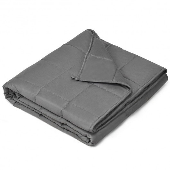 "7 lbs 41"" x 60"" 100% Cotton Weighted Blankets-Gray"