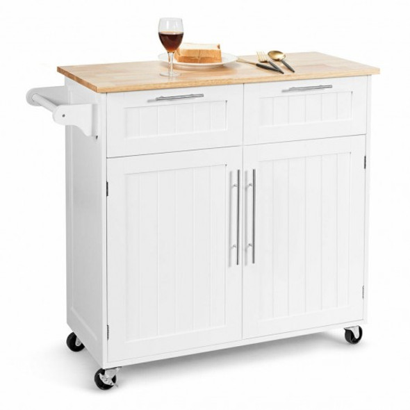 Heavy Duty Rolling Kitchen Cart-White
