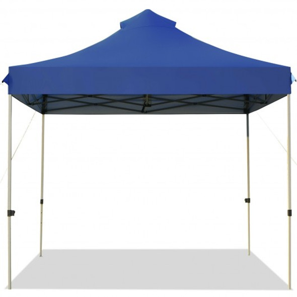 10' x 10' Portable Pop Up Canopy Event Party Tent Adjustable with Roller Bag-Blue