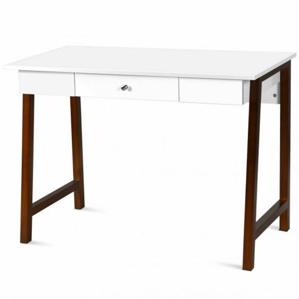 Computer Desk Laptop PC Writing Table Makeup Vanity Table-Walnut