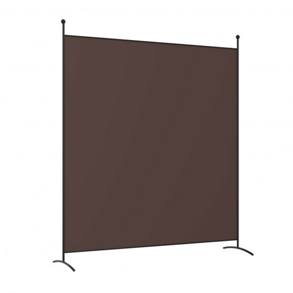 Single Panel Room Divider Privacy Partition Screen for Office Home-Coffee
