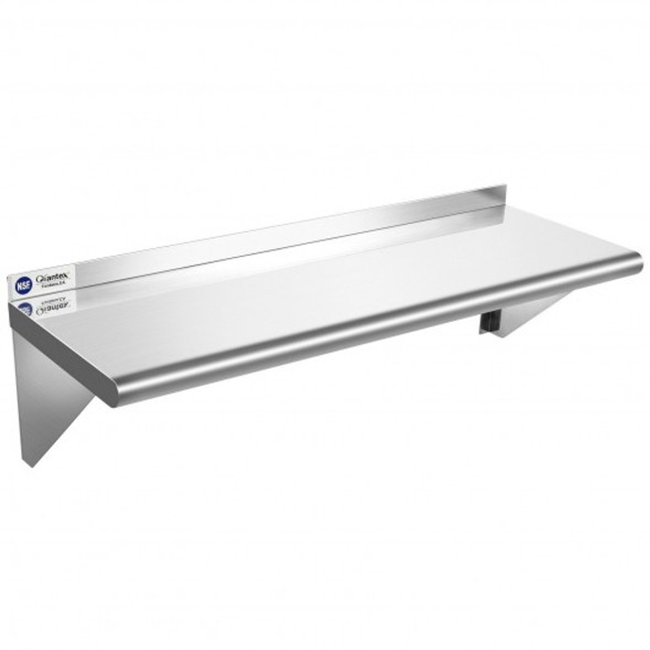 "12"" 36"" Stainless Steel NSF Commercial Wall Mount Shelf for Kitchen and Restaurant"