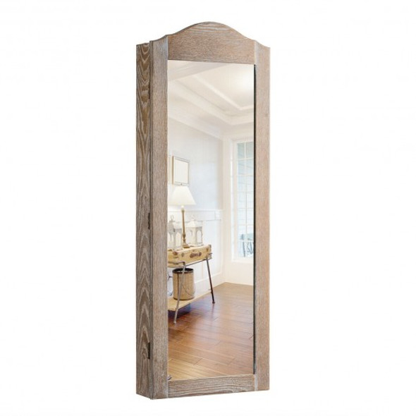 Cabinet Wall/Door Mounted with Mirror Jewelry Armoire - COHW65817