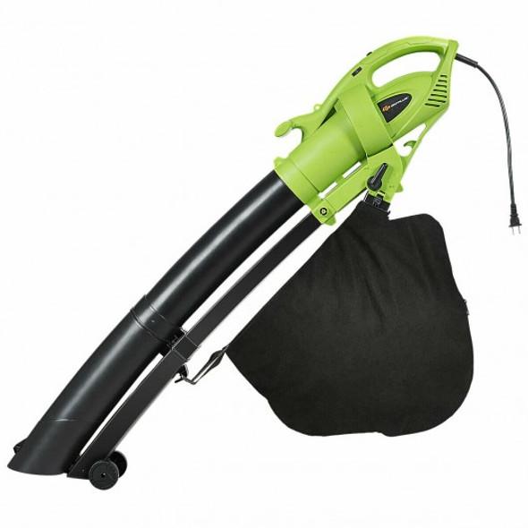 7.5 Amp 3-in-1 Electric Leaf Blower Leaf  Vacuum Mulcher 170MPH - COGT3575US