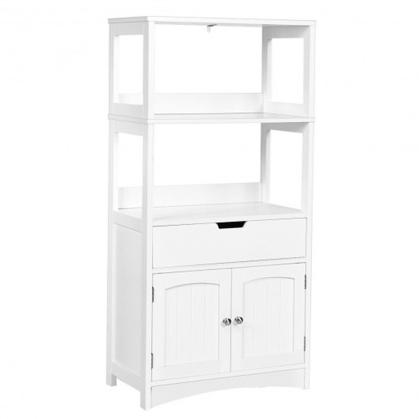 Bathroom Storage Cabinet with Drawer and Shelf Floor Cabinet - COHW66295WH