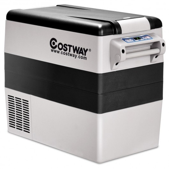 55-Quarts Portable Thermoelectric Electric Car Cooler Refrigerator for Beverage