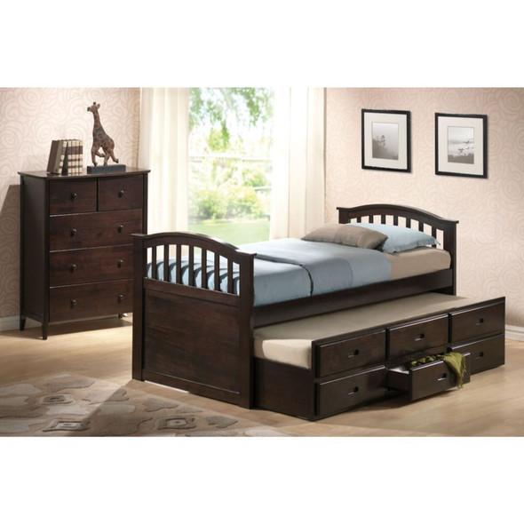 San Marino Twin Captain Bed