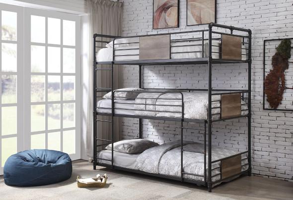Brantley Triple Bunk Bed - Twin