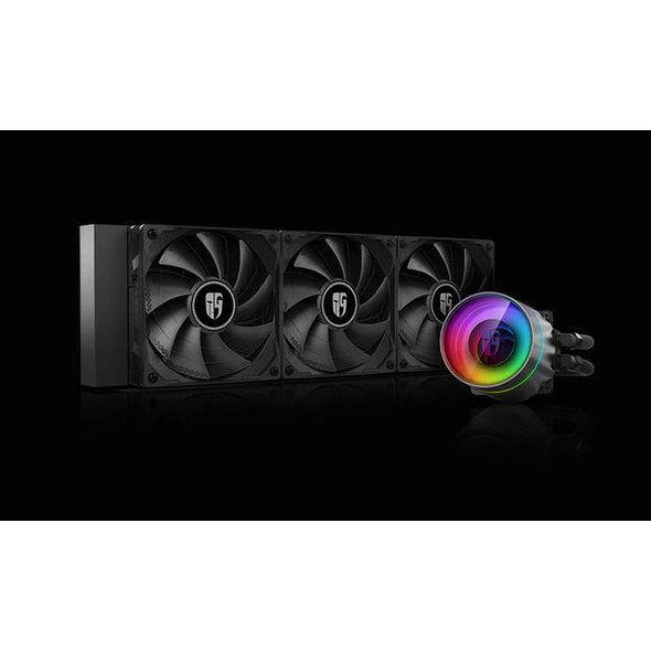 DEEPCOOL Castle 360EX, Addressable RGB AIO Liquid CPU Cooler, Anti-Leak Technology Inside, Cable Controller and 5V ADD RGB 3-Pin Motherboard Control,