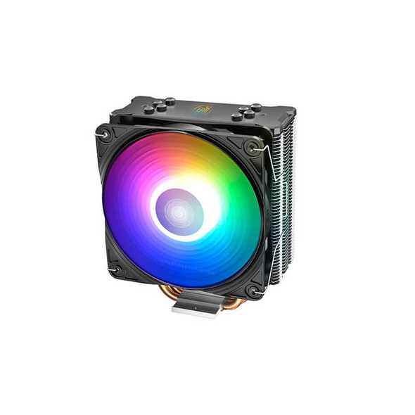 DEEPCOOL GAMMAXX GT A-RGB, CPU Air Cooler, SYNC A-RGB Fan and Black Top Cover, Cable or Motherboard Control Supported, 4 Heatpipes, 120mm A-RGB Fan,