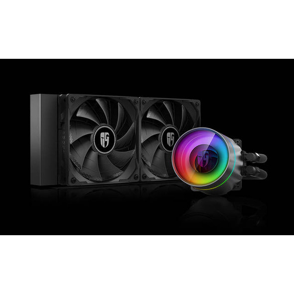 DEEPCOOL Castle 240EX, Addressable RGB AIO Liquid CPU Cooler, Anti-Leak Technology Inside, Cable Controller and 5V ADD RGB 3-Pin Motherboard Control,