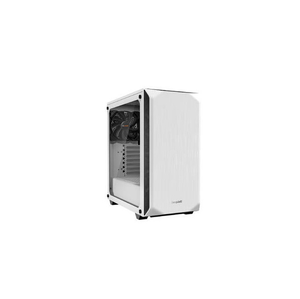 be quiet! BGW35  Pure Base 500 Window WHITE, ATX, midi tower computer case, tempered glass window, two preinstalled fans