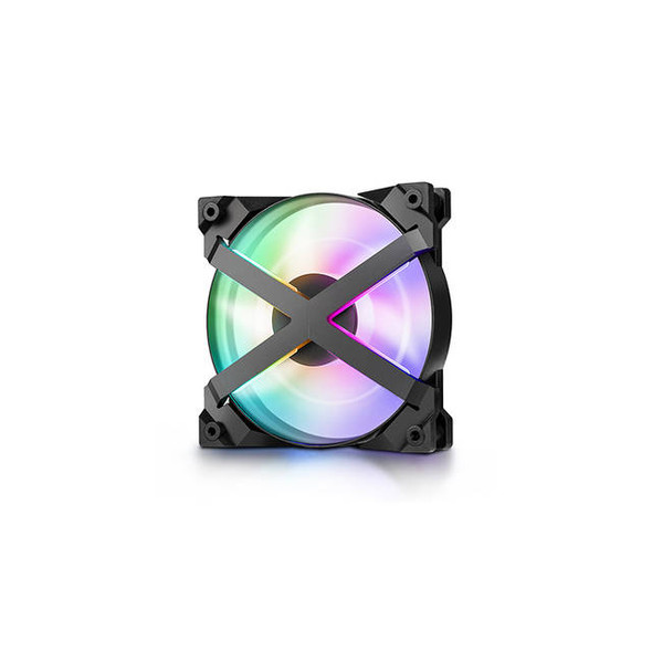 DeepCool MF120 GT A-RGB X-Frame, 5V 3-Pin Motherboard connector, included 4-port PWM Fan Hub, 6-port RGB hub and Wire Controller, 3 Fan Pack