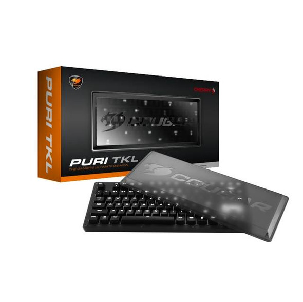 Cougar PURI TKL1 Mechanical Gaming Keyboard w/ Magnetic Protective Cover and Extra Set of Metallic Keycaps, Cherry MX Red