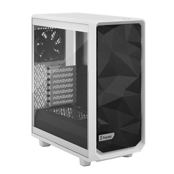 Fractal Design FD-C-MES2C-05 Meshify 2 Compact White Tempered Glass Clear ATX Mid Tower Computer Case (White)