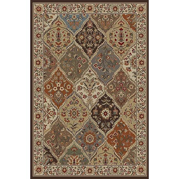 Ivory Abstract Area Rug (7'6 x 9'10)