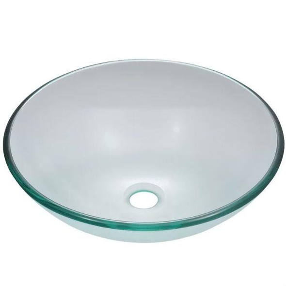 Crystal Clear Tempered Glass Round Bathroom Vessel Sink