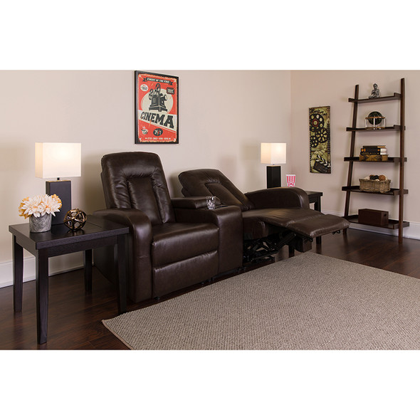 Brown Leather Theater - 2 Seat