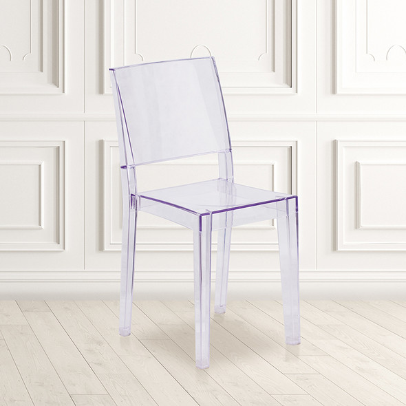 Clear Stacking Side Chair - FLFH-121-APC-GG