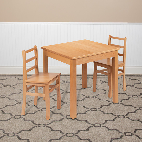 Natural Solid Wood Table Set