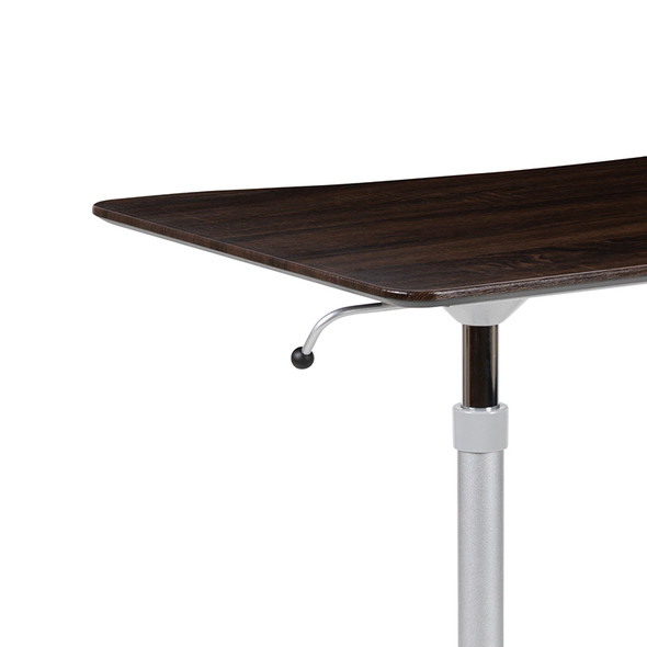 Wood Grain Sit To Stand Desk