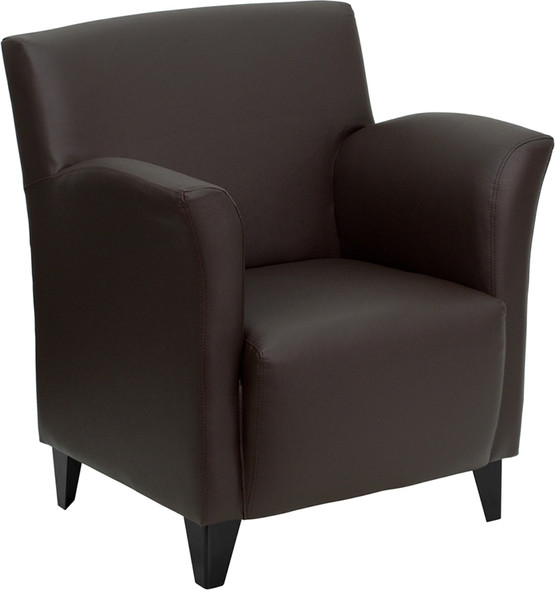 Brown Leather Guest Chair