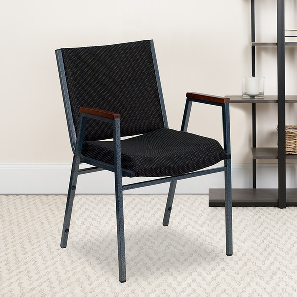 Black Fabric Stack Armchair