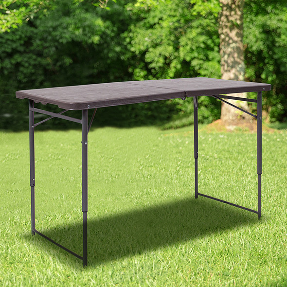 23.5x48.25 Brown Plastic Table