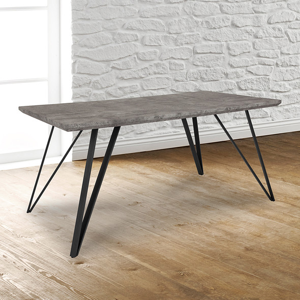 63x31.5 Concrete Dining Table