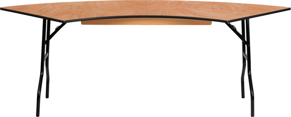7.25x2.5ft Serp Wood Table