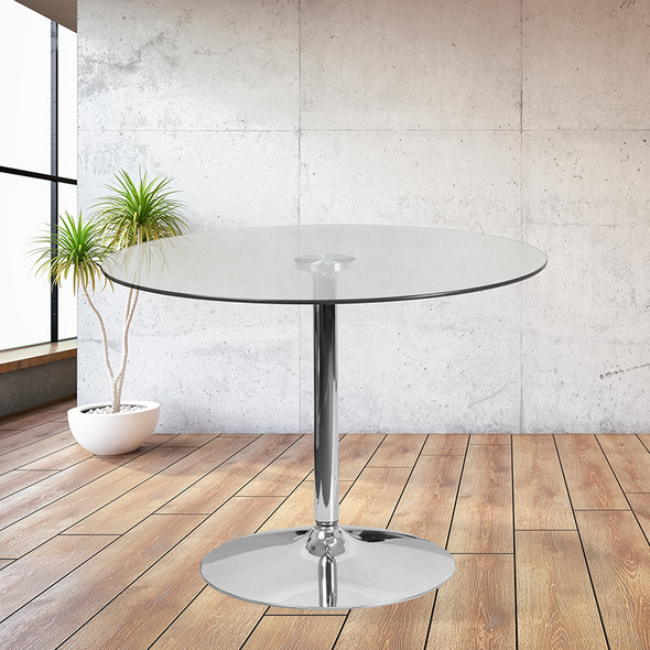 39.25rd Glass Table-29 Base
