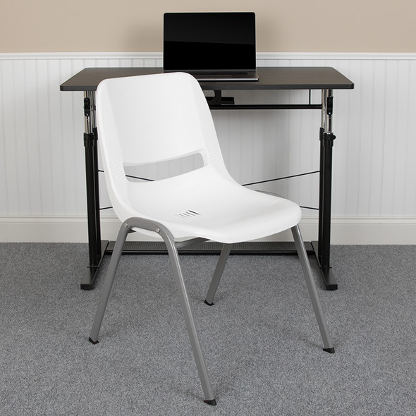 White Shell Stack Chair