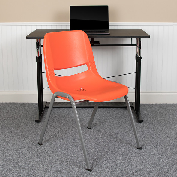 Orange Shell Stack Chair