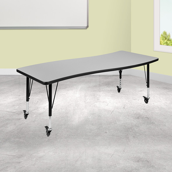 """26""""wx60""""l Grey Activity Table - FLXU-A3060-CON-GY-T-P-CAS-GG"""
