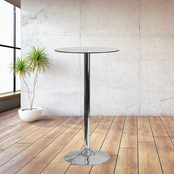 23.5rd Glass Table-35.5 Base