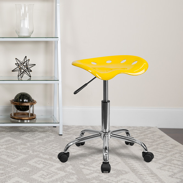 Yellow Tractor Stool - FLLF-214A-YELLOW-GG