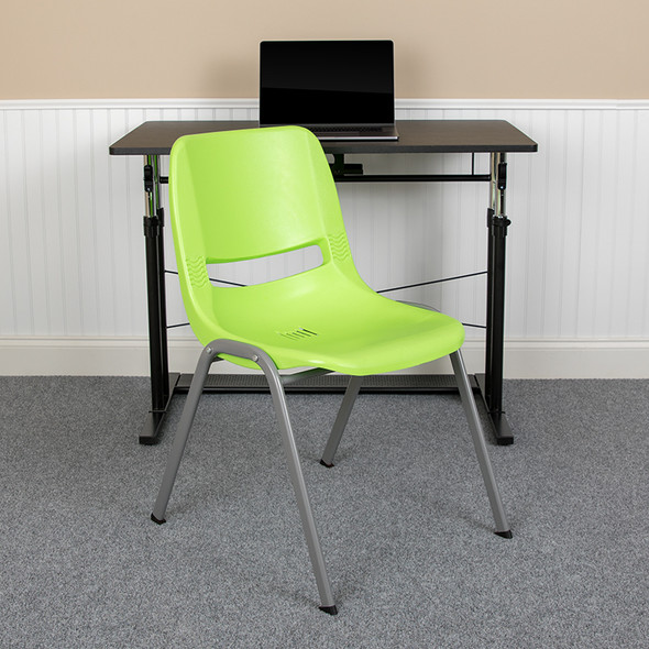 Green Shell Stack Chair