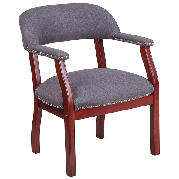 Gray Fabric Guest Chair - FLB-Z105-GY-GG