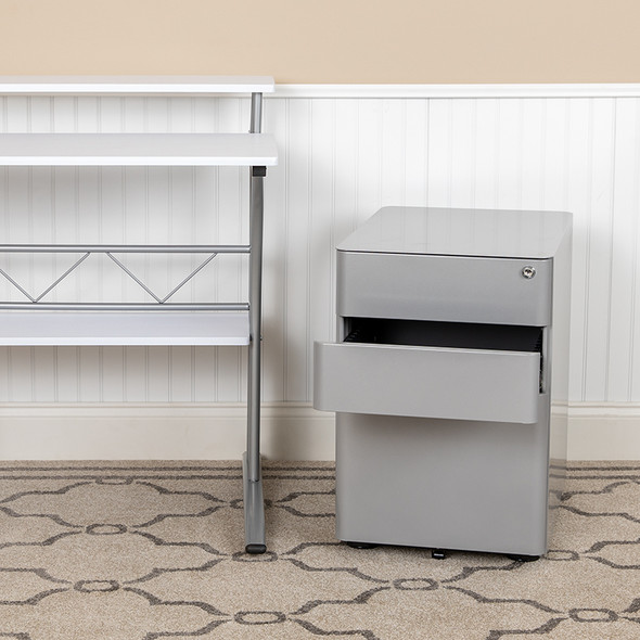 3-drawer Filing Cabinet-gray - FLHZ-CHPL-01-GRY-GG