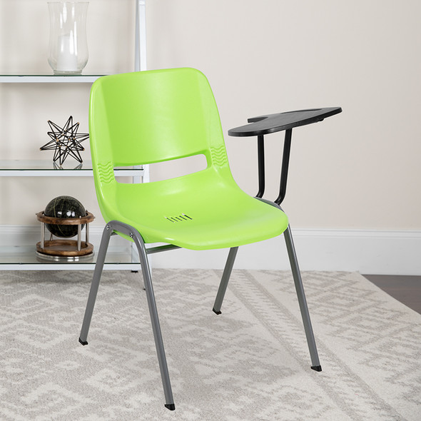 Green Tablet Arm Chair