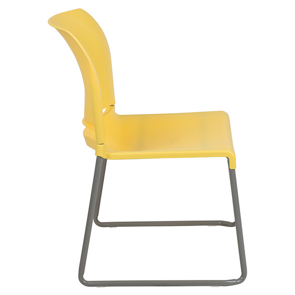 Yellow Plastic Stack Chair - FLRUT-238A-YL-GG