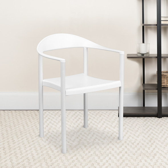 White Plastic Stack Cafe Chair